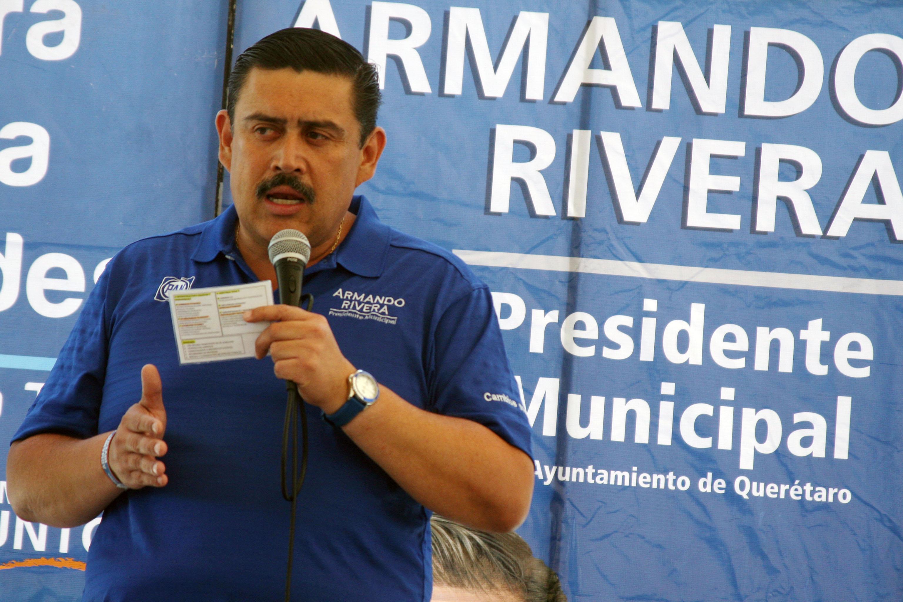 Armando Rivera pide no contaminar la elección del 1 de julio