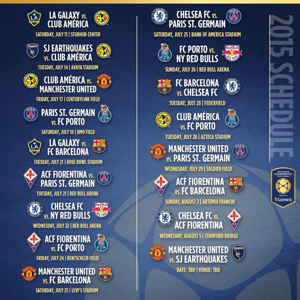 Calendario Champion Inter.International Champions Cup Calendario Calendario 2020