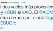 Aeropuerto de Querétaro recibe tres vuelos por cierre del AICM