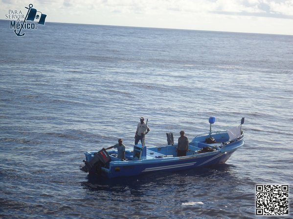 Pescadores rescatados en Chiapas