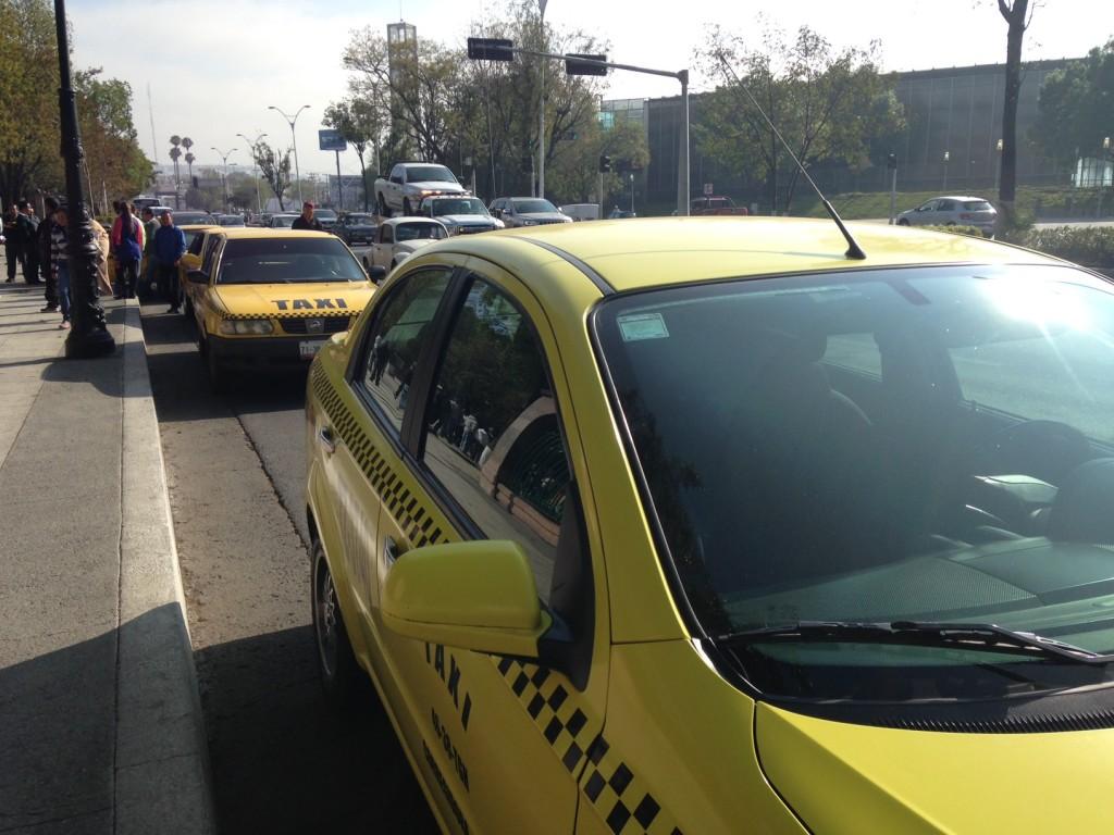 Taxistas manifestantes