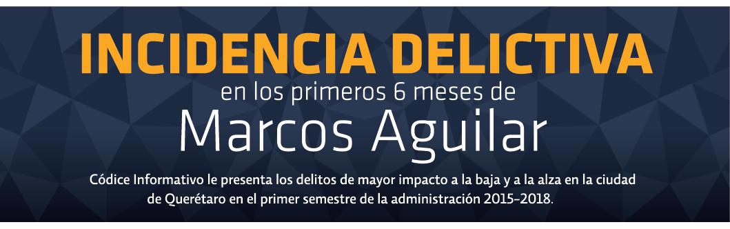 Incidencia delictiva en los primeros 6 meses de Marcos Aguilar