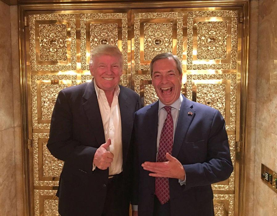 Farange y Trump