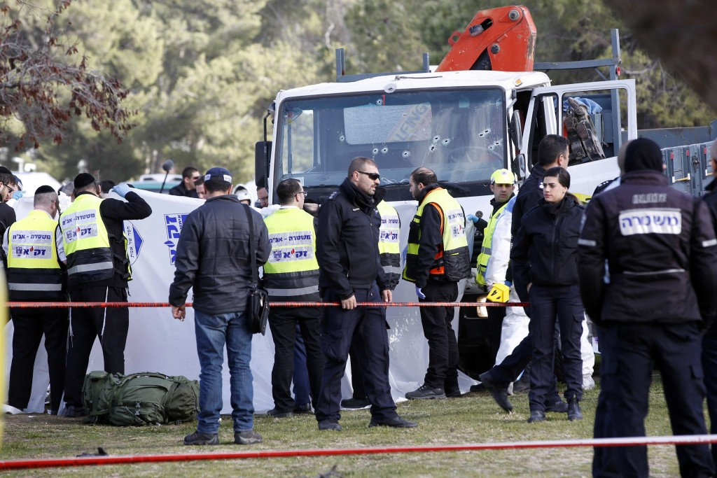 Truck ramming attack on Israeli soldiers in Jerusalem