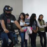 Los asistentes pudieron observar cómo funciona la realidad virtual y la inteligencia artificial