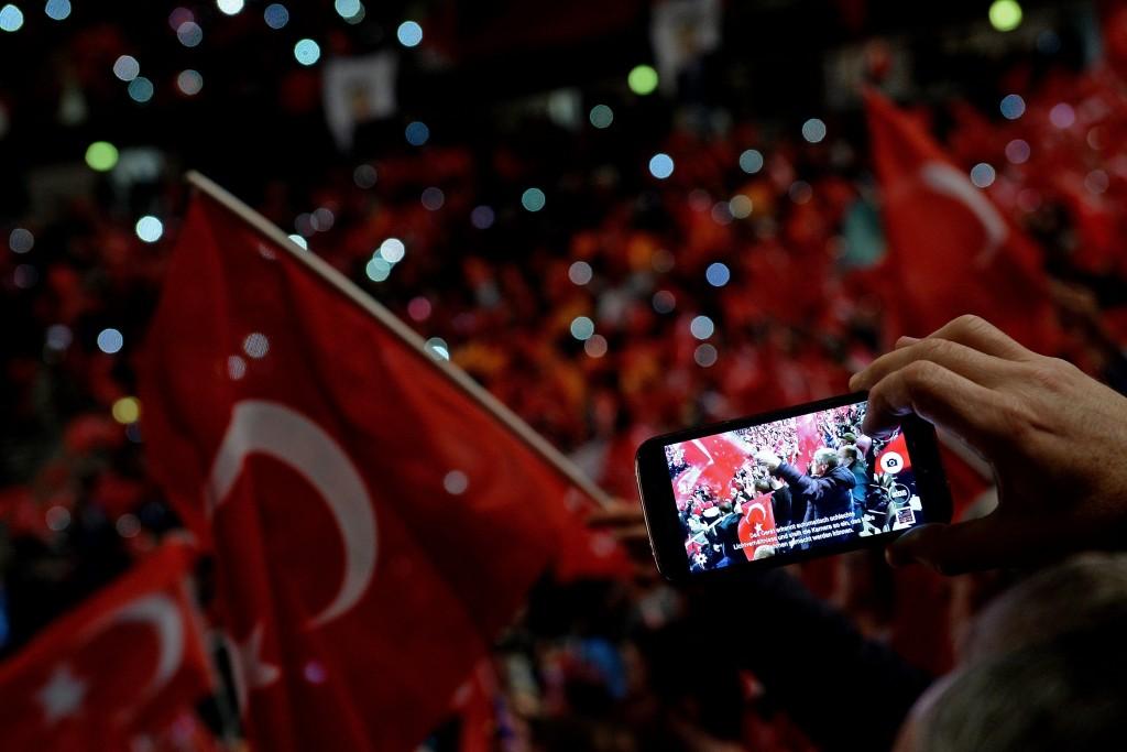 Turkish Prime Minister Binali Yildirim speaks in Oberhausen