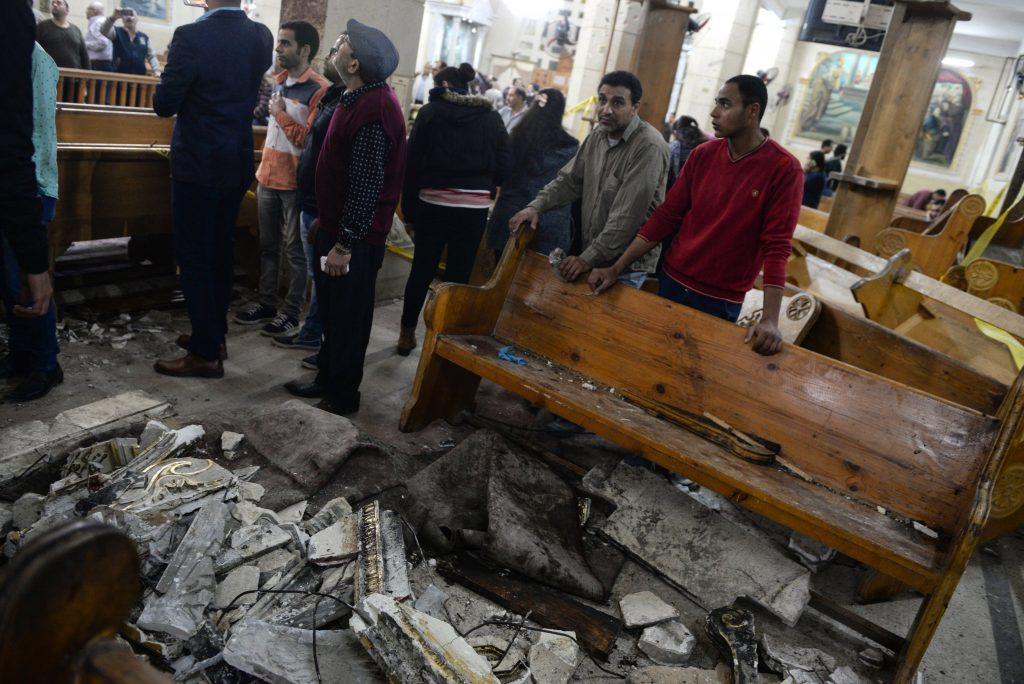 At least 28 were killed in an explosion in Mar Girgis church in Egypt
