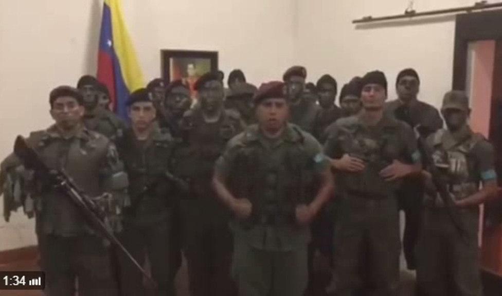 GRUPO MILITAR SE SUBLEVA EN NORTE DE VENEZUELA Y ES REDUCIDO POR EL EJÉRCITO