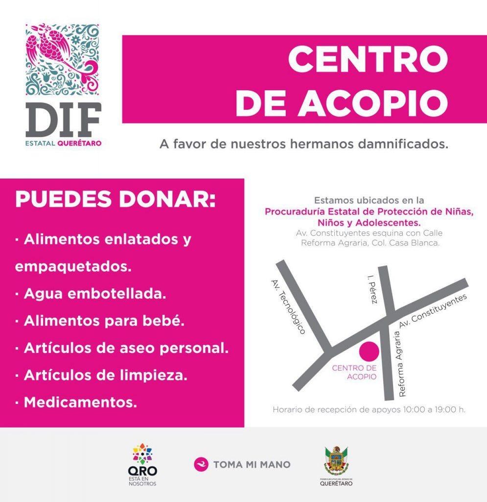 Mérida se suma al apoyo a damnificados por el sismo