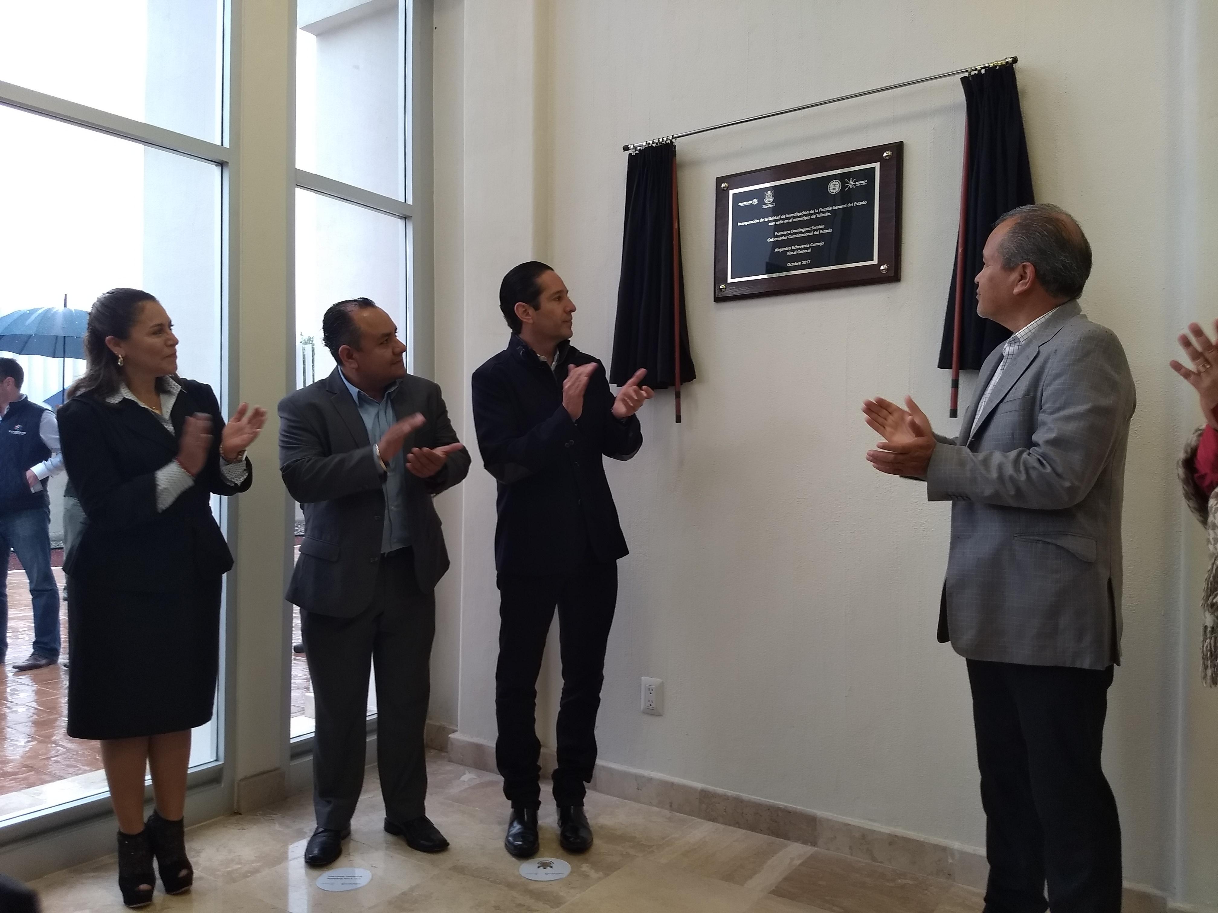 Con 19.5 mdp de inversión, Pancho Domínguez inaugura edificio de la Fiscalía en Tolimán