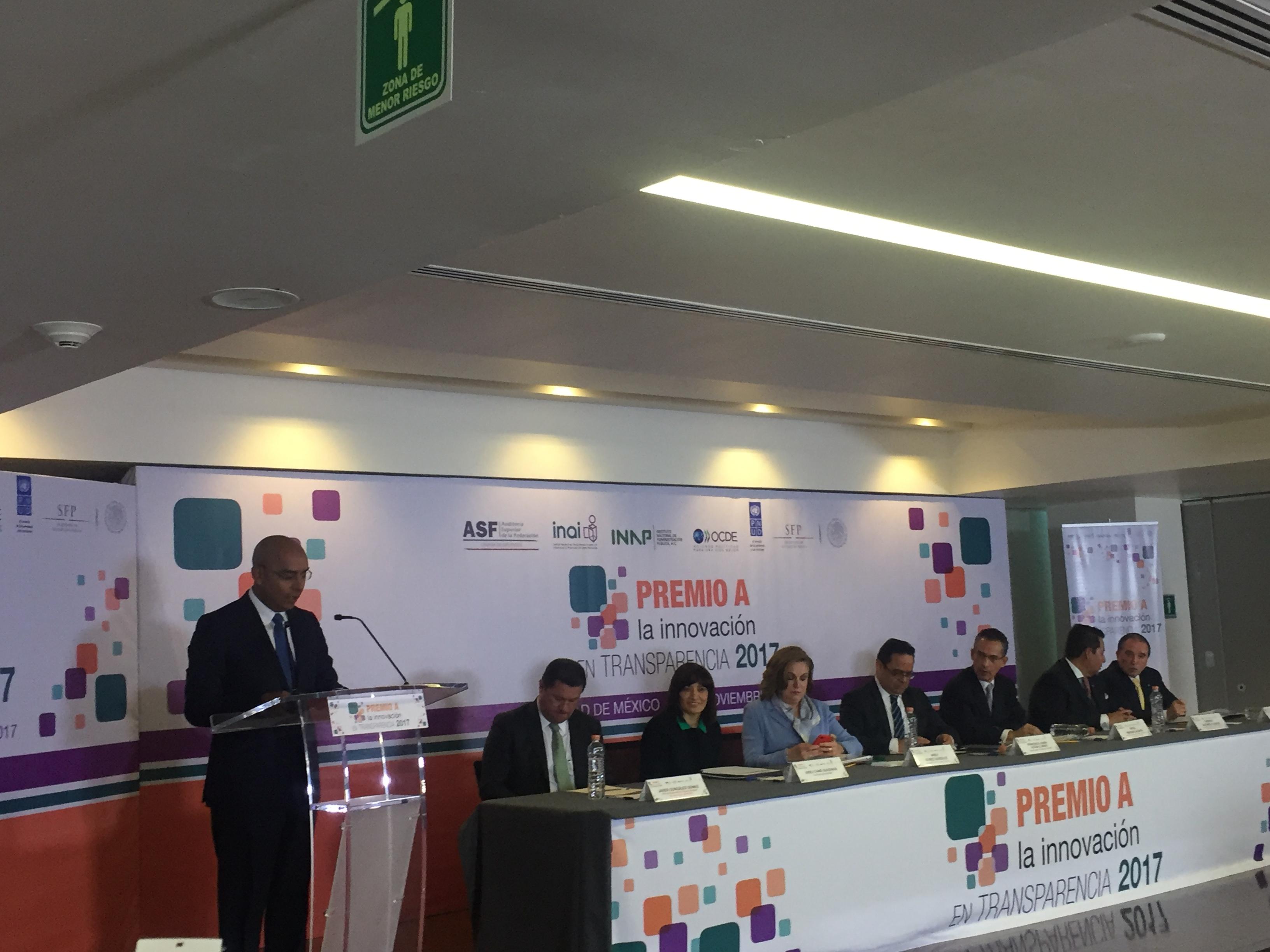 """""""Obra Pública Abierta"""", la plataforma por la que el municipio de Querétaro recibe el Premio a la Innovación en Transparencia"""
