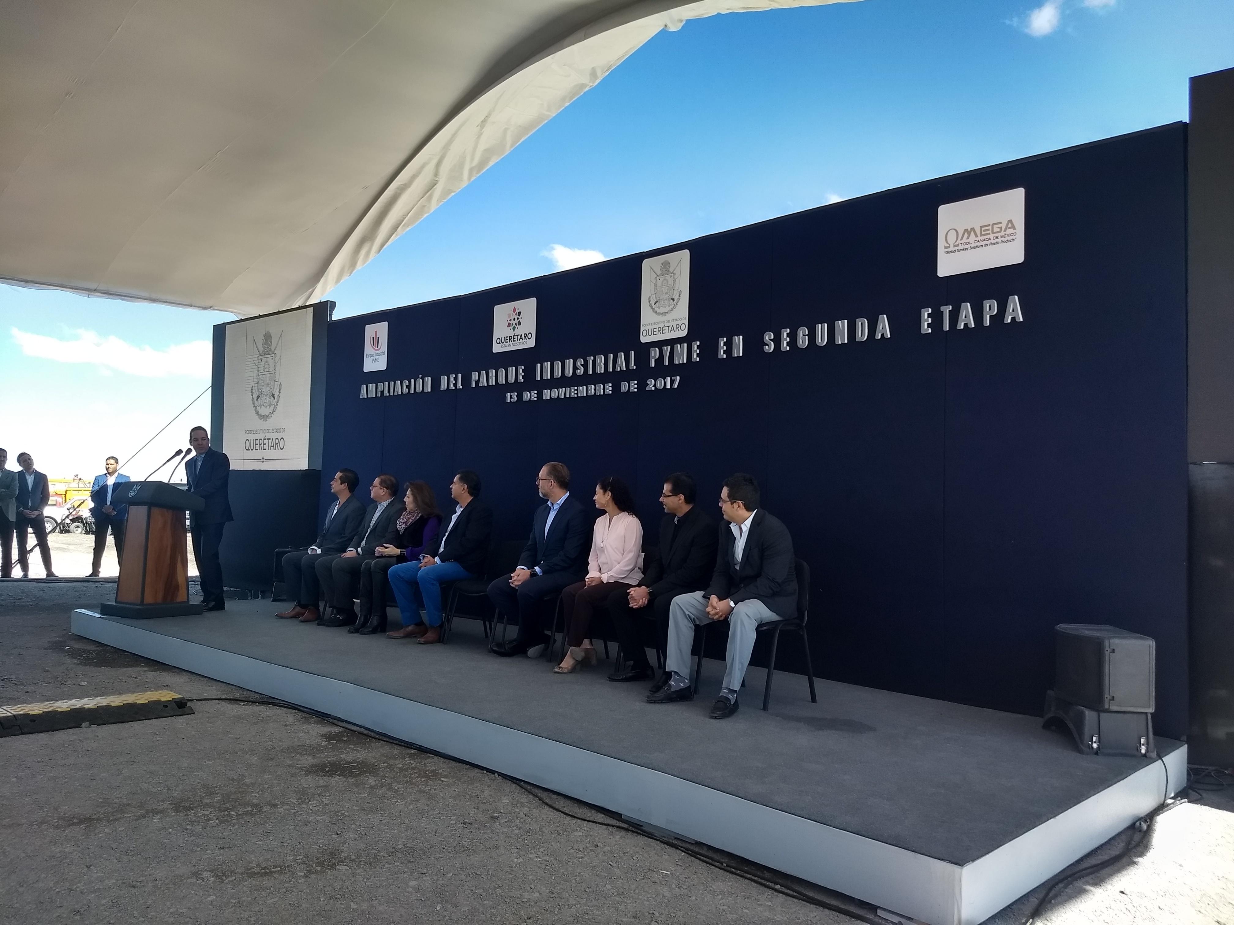 Espera Querétaro asentamiento de 220 empresas para segunda etapa del Parque Industrial Pyme