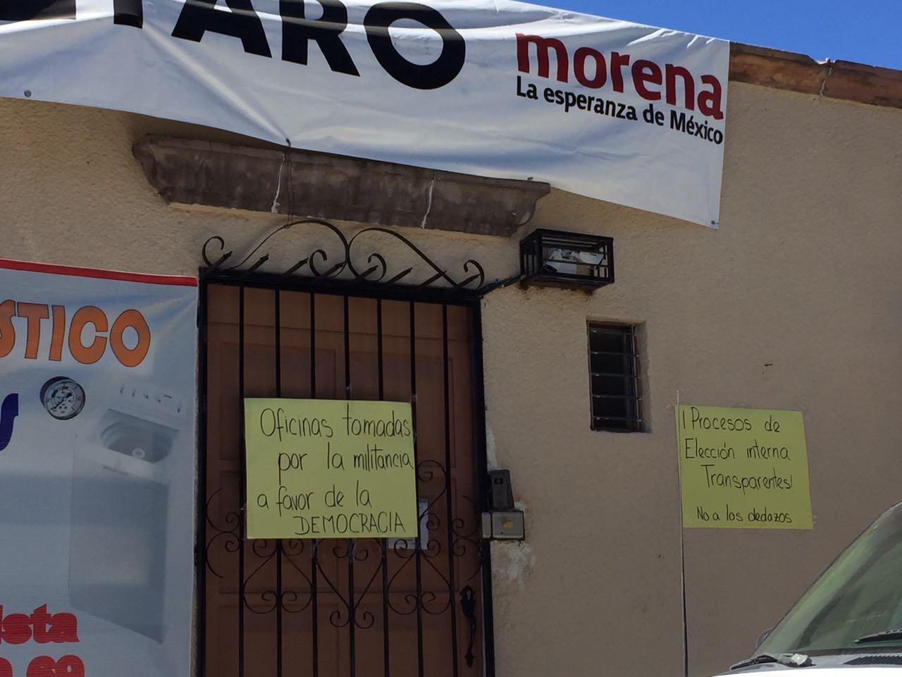 Militantes toman instalaciones de Morena Querétaro para denunciar supuestos actos de corrupción