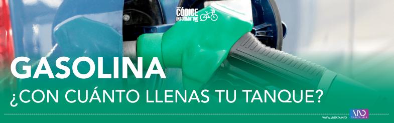 Gasolina ¿Con cuánto llenas tu tanque?