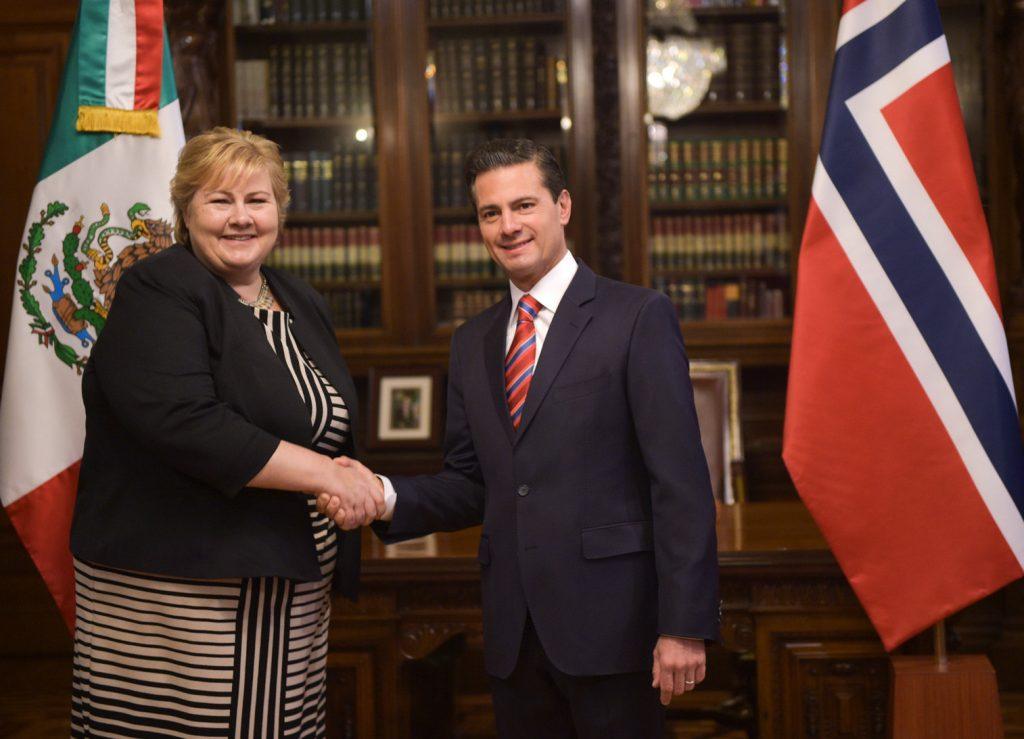 Recibe Peña Nieto a Erna Solberg, Primera Ministra de Noruega