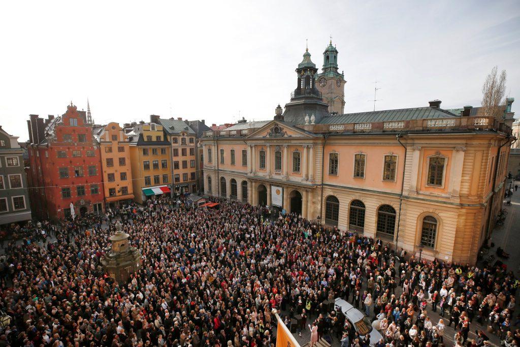 Manifestación en Estocolmo