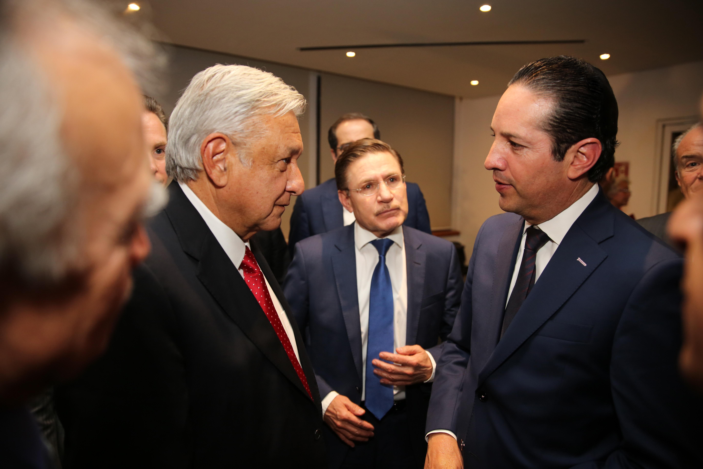 Pancho Domínguez y AMLO dialogan sobre temas de interés nacional