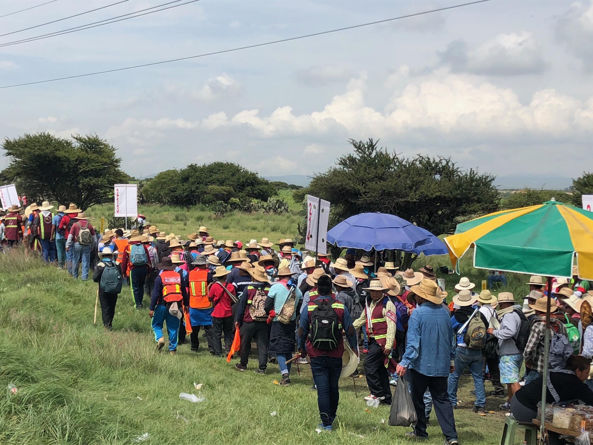 Grupo de peregrinos desobedece indicaciones y parte a La Basílica; Seseq les pide volver a Querétaro