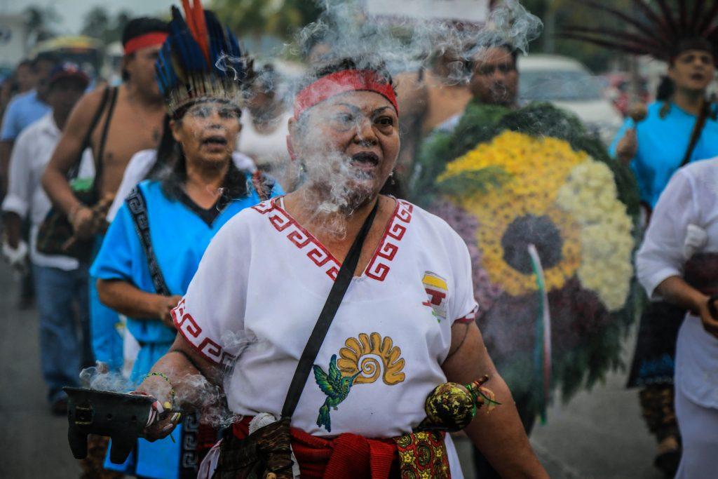 Indígenas mexicanos conmemoran el Día Internacional de los Pueblos indígenas