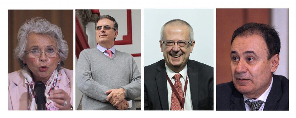 Sánchez Cordero, Durazo y Ebrard, figuras clave en Gobierno de López Obrador