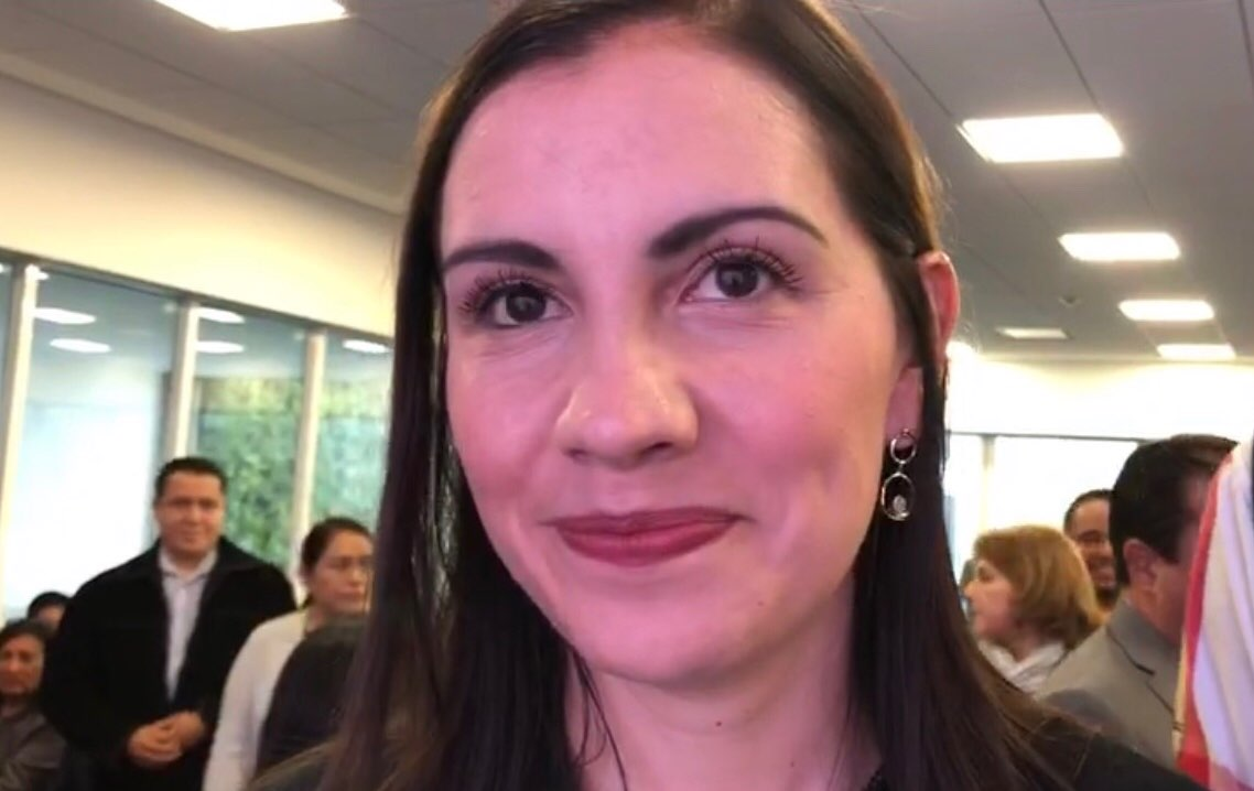 Elsa Méndez en Los Pinos