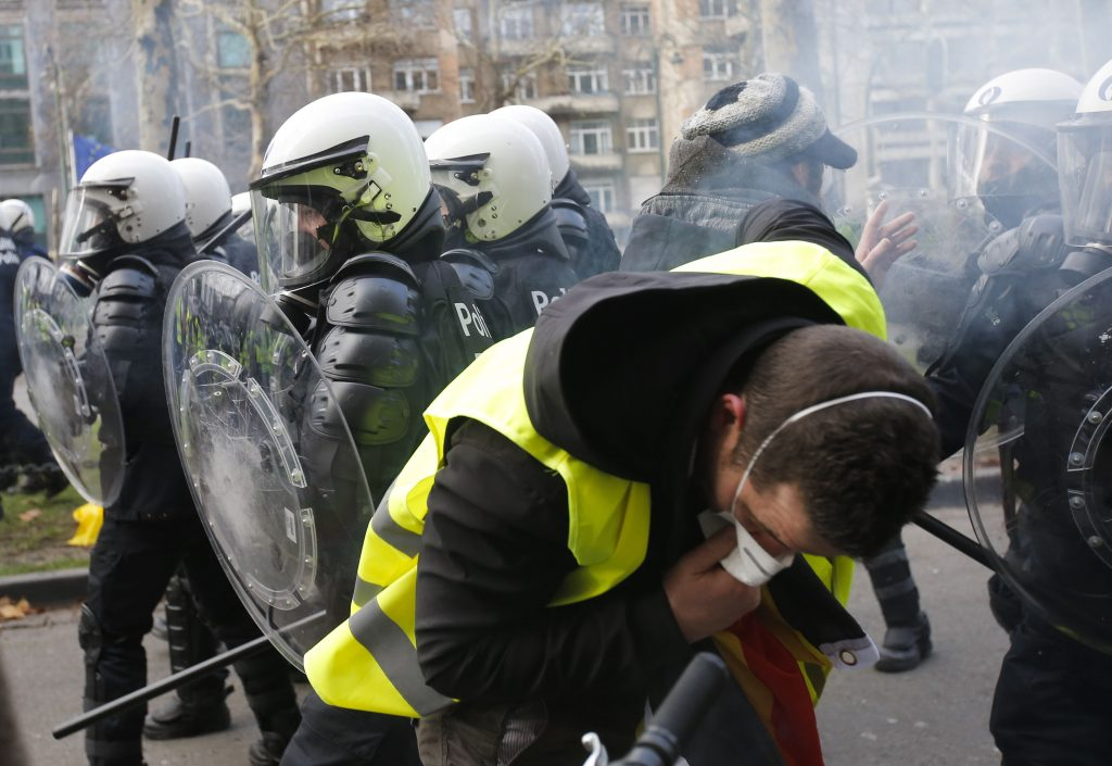 Yellow vests protest in Brussels