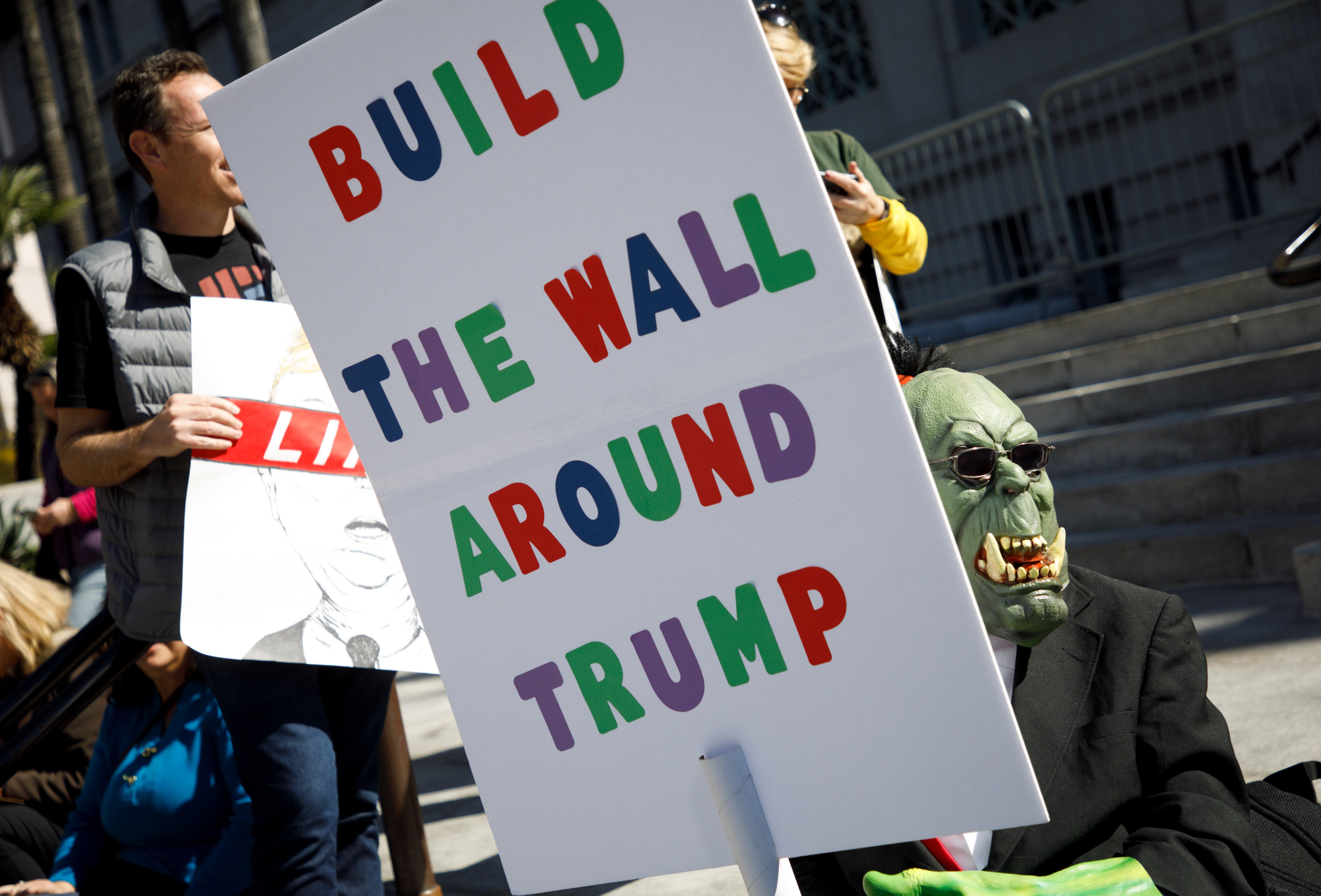 Protesta en el Día de los Presidentes en Los Ángeles