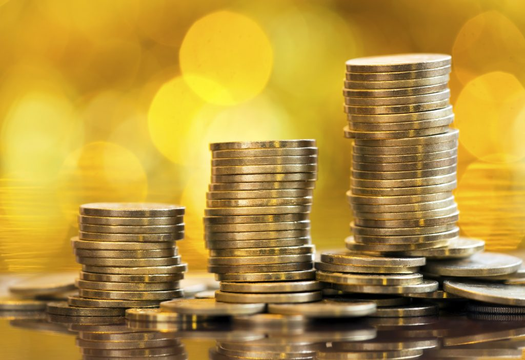 Save money - golden coins