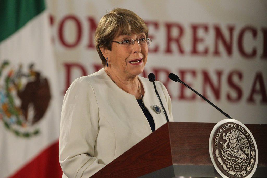 Bachelet espera que Guardia Nacional acabe