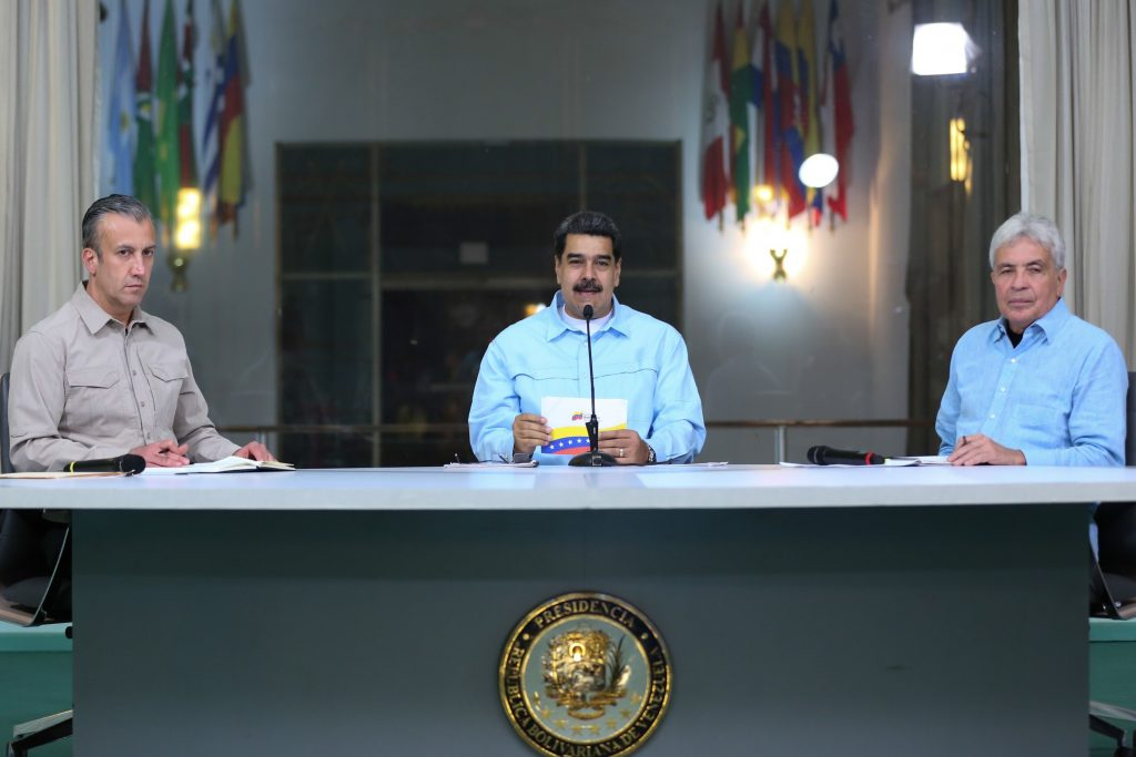 Presidente venezolano, Nicolás Maduro, en un acto de Gobierno