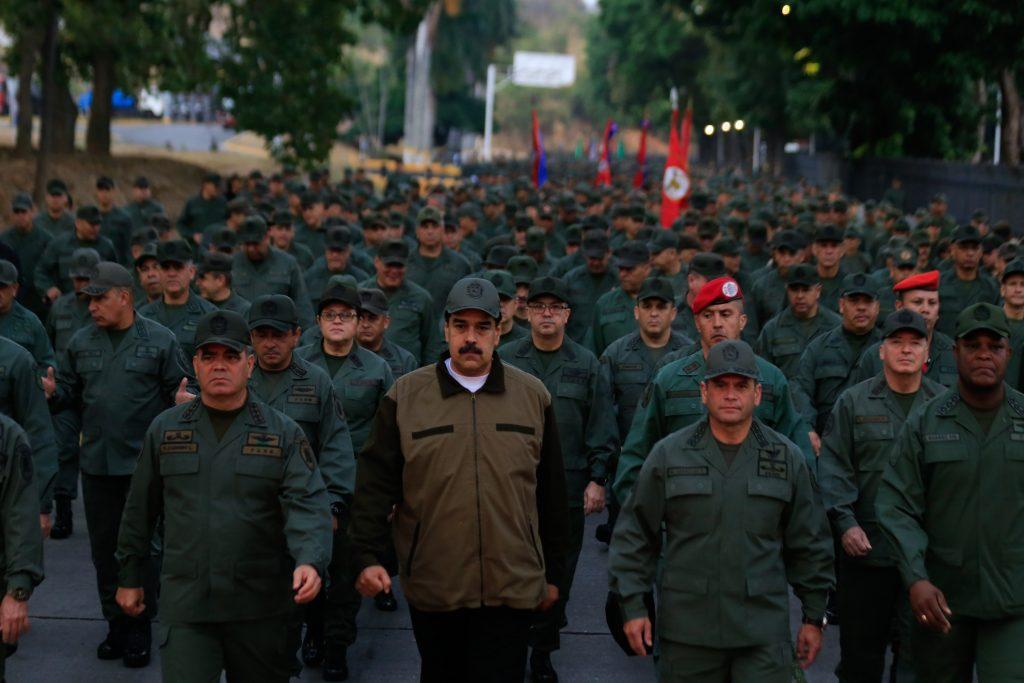 Maduro asiste a un acto con las Fuerzas Armadas Bolivarianas
