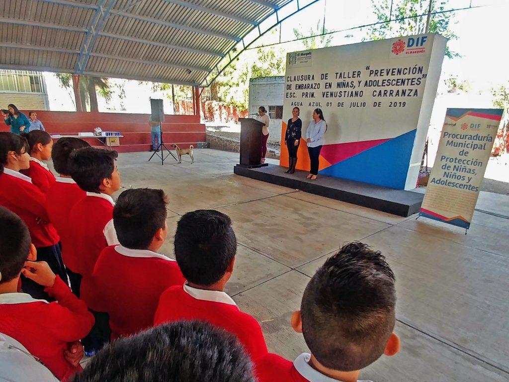 Los estudiantes de la escuela Venustiano Carranza de Agua Azul fueron los beneficiados con este taller