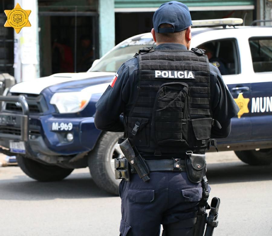 Policías municipales de Querétaro frustran robo en la Reforma Agraria
