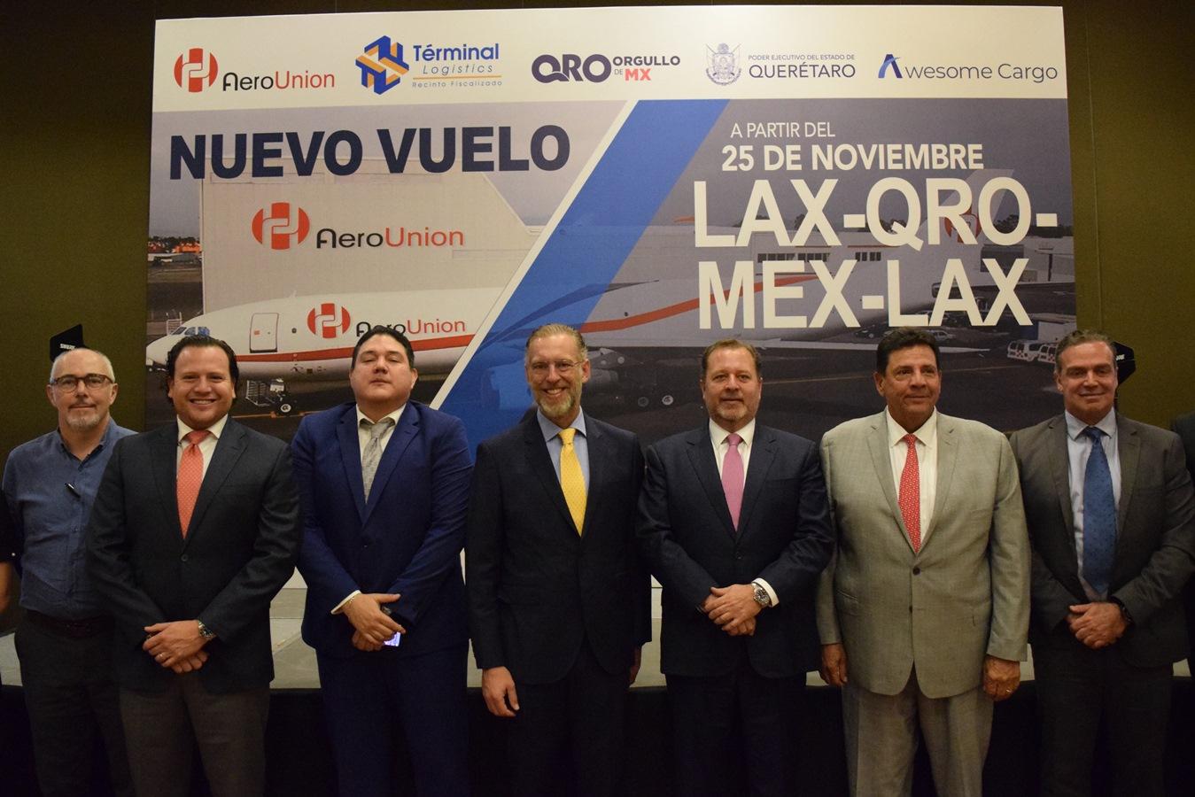 AIQ tendrá nueva ruta de carga Los Ángeles–Querétaro