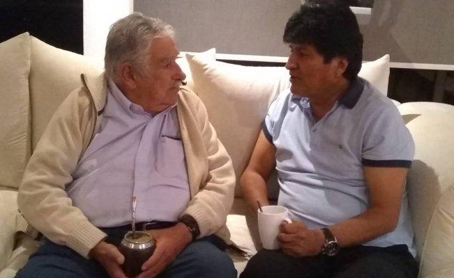 José Mujica se reúne en México con Evo Morales