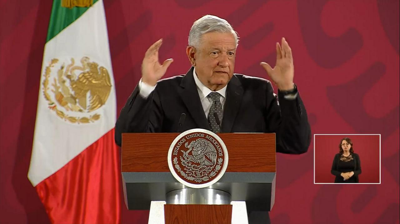 Garantiza López Obrador derecho de la oposición a manifestarse