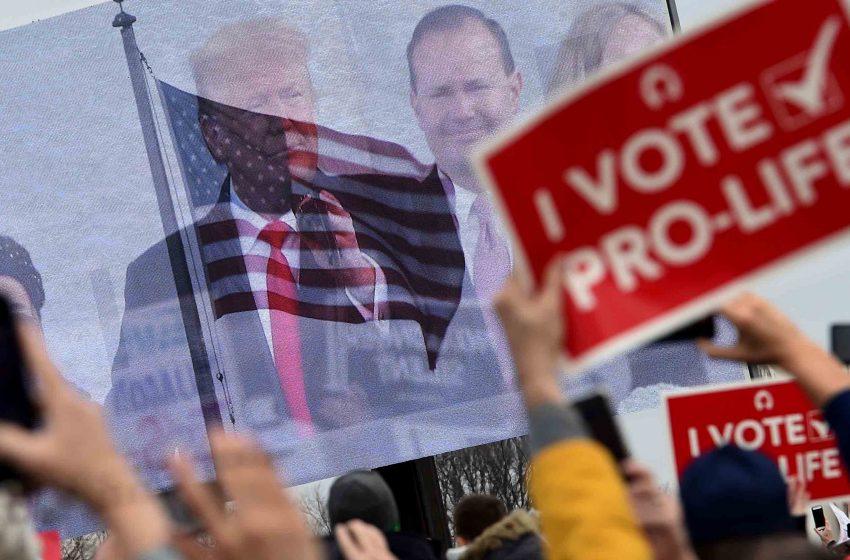 Trump participa en marcha antiabortista en Estados Unidos