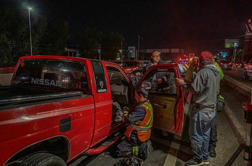 Accidente a la altura de Tremec paraliza la 57 en dirección a San Luis Potosí