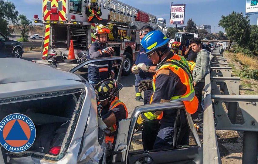Accidente sobre la 57 dirección Querétaro, genera intensa carga vehicular