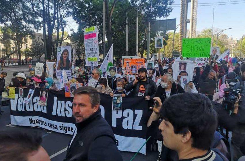 Olga Sánchez recibe a integrantes de la Caminata por la Verdad, la Justicia y la Paz