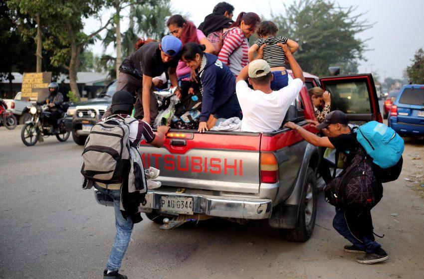 Segunda caravana con 170 migrantes hondureños cruza a Guatemala rumbo a EEUU