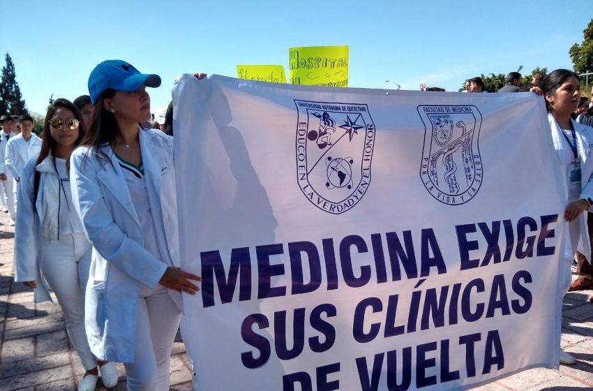 Medicina de la UAQ solicita al gobernador un espacio en el Hospital General