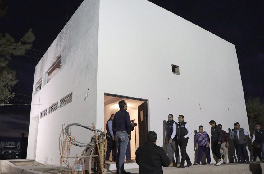 Supervisa Roberto Sosa avance de obra en subcomandancia policíaca de Presa de Bravo