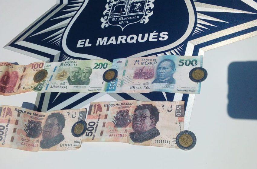 Por portar billetes falsos, son detenidos en Los Héroes