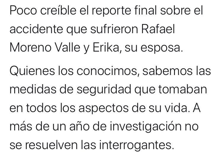 Se suma Kuri a críticas contra reporte por muerte de Moreno Valle y Erika Alonso