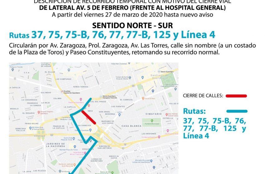 Cerco sanitario en el antiguo Hospital General obliga a modificar 11 rutas de transporte