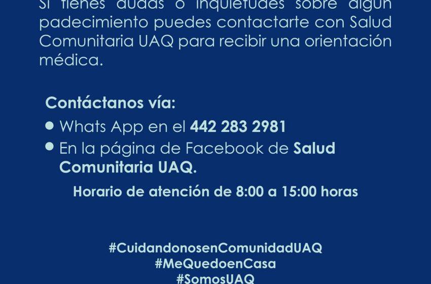UAQ brindará orientación médica durante brote de COVID-19