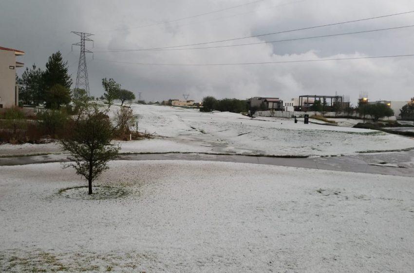 Autoridades preveen granizo en Querétaro para el fin de semana