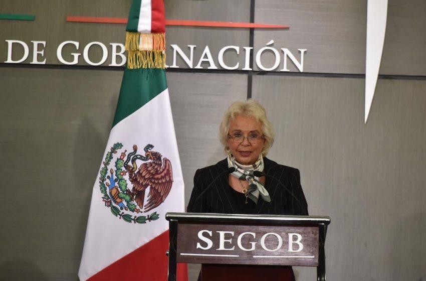 Deja Sánchez Cordero Secretaría de Gobernación; regresará al Senado