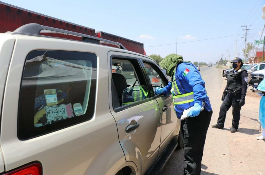 Por faltas a la autoridad, suman 42 automovilistas detenidos en filtros sanitarios